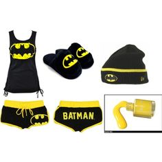 """Batman Pajama's"" by volleyball-babe-123 on Polyvore I gotta see if this is even possible"