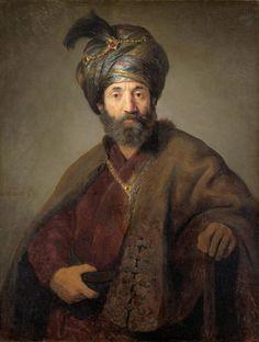 Рембрандт Харменс ван Рейн - Рембрандт и мастерская (Возможно, Говерт Флинк). Мужчина в восточном одеянии (ок.1635)
