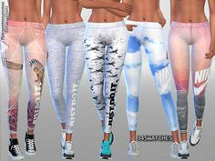 Gym Fit Track and Field Leggings Collection by Pinkzombiecupcakes at TSR • Sims 4 Updates