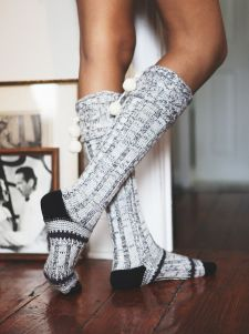 Free People Night kap Slipper Sock