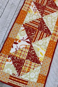 Easy Fall Quilted Table Runner Free Pattern