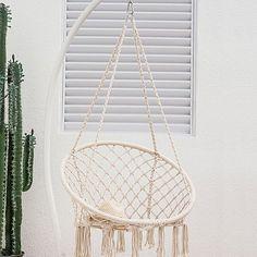 Bungalow Rose Dutra Macrame Chair Hammock & Reviews | Wayfair