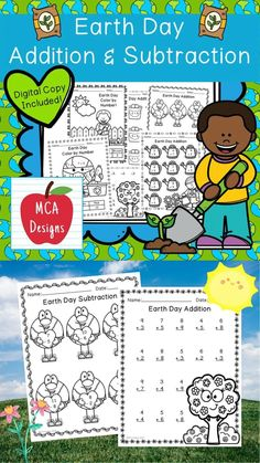 This product features various worksheets and activities to help your students practice their basic addition and subtraction facts through 20. Each worksheet is accented with various Earth Day themed graphics! This product includes both a print and DIGITAL copy. The digital copy is great for DISTANCE LEARNING! #teacherspayteachers #tpt #earthday Teaching Subtraction, Addition And Subtraction Practice, Earth Day Worksheets, 2nd Grade Activities, Educational Activities, Math Resources, Classroom Resources, School Resources, Math Workshop