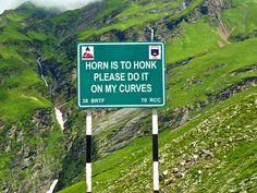 Signs on Indian Himalayan Roads aim to cut RTAs Credit: Ajay Jain/Barcroft Media