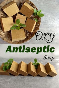 Herbal Gardening Ideas How to make herbal Antiseptic soap for our family - Essential Ayur Soap Making Recipes, Homemade Soap Recipes, Castile Soap Recipes, Homemade Soap Bars, Antiseptic Soap, Diy Cosmetic, Soap Making Supplies, Lotion Bars, Cold Process Soap