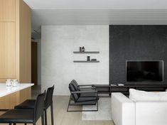 living room Lofts, Minimalist Design, Minimalism, Living Room, Table, House, Furniture, Home Decor, Wallpaper