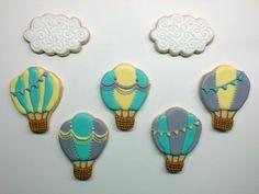 Hot air balloon sugar cookies with Royal icing