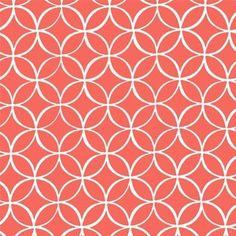 Michael Miller House Designer - Mod Basics - Tile Pile in Coral