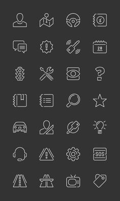 Alfa Romeo Mobile - Pictograms by Stefano Vetere, via Behance