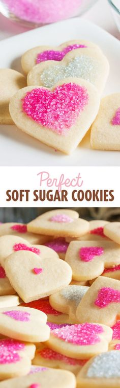 These tender, soft sugar cookies are one of my new favourites. They have a hint of lemon flavour and can be simply decorated with sanding sugars.