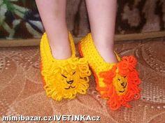 háčkované bačkůrky lvíček
