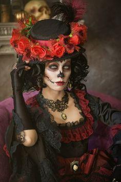 "Steampunk Tendencies | Marina ""Loki"" Nosova - MUA: Karina Marchenko - Сlothing: Lucky Lot - Location: Studio Colors - Model: Kassie Lanfire #Fashion #Dark #Goth"