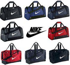 fc550d174f0f Nike Brasilia   Team Gym Sports Football Duffle Kit Bag Holdall Travel  Holiday