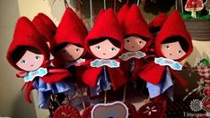 Cute favors at a Little Red Riding Hood birthday party! See more party ideas at CatchMyParty.com!