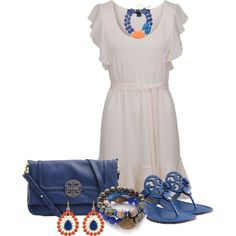 """""""Flipping for Tory Burch Flip Flops!"""" by kimlyns on Polyvore"""