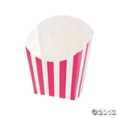 Hot Pink Striped Fry Containers