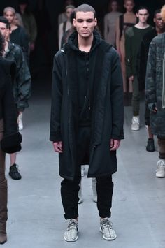 5b857e7afbee See Everything From The Kanye x Adidas Show - Four Pins Yeezy Season 1