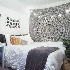 Magical Thinking Floral Elephant Tapestry - Urban Outfitters #TraditionalBedroomDecor