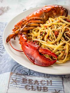 Linguine all'astice Risotto Cremeux, Pasta Art, Lobster Meat, Spaghetti Noodles, Xmas Food, Fish And Seafood, Gnocchi, My Favorite Food, Italian Recipes