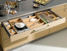 Kitchen drawer organization
