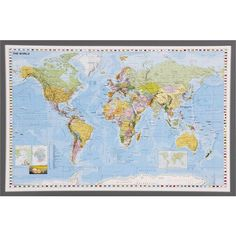 World Decorator Wall Map Calebs Ideas Pinterest Wall Maps - World decorator map