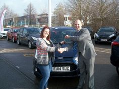 Mrs Handley brought the sunshine with her to pick up a brand-new Ford B-MAX. Thank you for bringing some good weather!