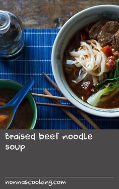 Combining tender beef cheeks and just-blanched bok choy with a lush, layered broth, this easy Taiwanese dish makes for a hearty and wholesome dinner. Try the slow-cooked wonder on the weekend and swap Sunday roast for hearty noodle soup. Beef Broth Soup Recipes, Soup With Beef Broth, Beef Noodle Soup, Beef And Noodles, Soup Broth, Low Fodmap, Fodmap Diet, Braised Beef, Roast Beef