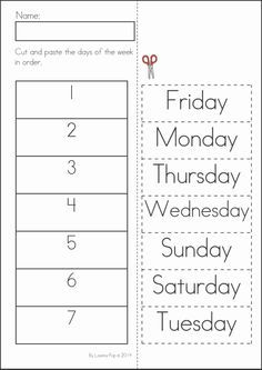 free preschool cut and glue worksheets - Google Search