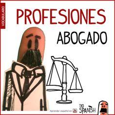 El abogado / La abogada --- Profesiones en español, vocabulario español incial- intermedio