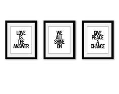 Love the idea of Beatles quotes on the walls!  I could make something like this, I think.