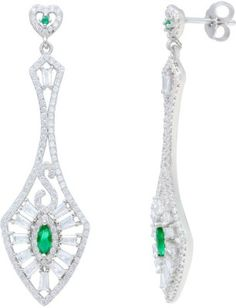 Ijuels Love Forever Solitaire Look alike Cubic Zirconia Sterling Silver Drop Earring for sale on www.emarket.ie