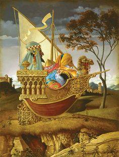 """James Christensen. """"Three Wise Men in a Boat"""""""