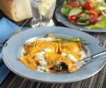 Vegetable stuff sweet potato ravioli