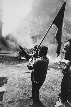 Hilmar Pabel  Protesters on the streets of Prague, 1968