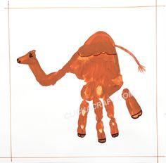 handprint camel craft project cool ideas how to paint a handprint
