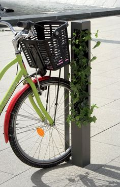 Built-in bike rack / galvanized steel / for public areas HEDERA ATECH