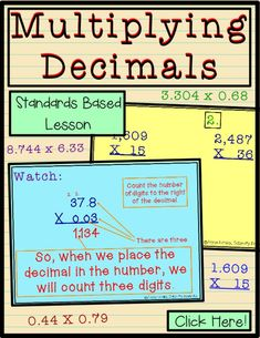 Teach upper elementary kids multiplication of decimals with this power point for practice ideas and learning. grade or grade students can work in small groups, whole class, and home school with this lesson from Teacher Pay Teachers. Elementary Teacher, Elementary Education, Upper Elementary, Teacher Pay Teachers, Teaching Decimals, Multiplying Decimals, Math Lesson Plans, Math Lessons, Fun Math