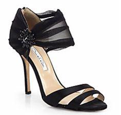Black satin sandal. Beautiful!!!