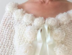 Wedding cape bridal capelet mohair stole ivory wrap cream   Etsy