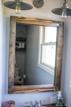 industrial wood mirror build a wood mirror for free using scrap wood see how