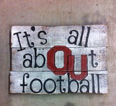 OU football pallet sign  by Rusticcreationoflove on Etsy