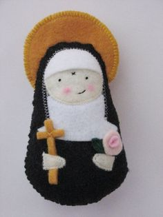 Saint Rita of Cascia....Felt Softie by SaintlySilver on Etsy