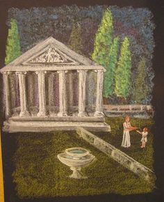 Grieken 5e - Chalk Art with Ancient Greece scene