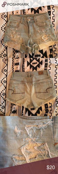 American Eagle jean shorts size 00 Cute jean shorts by American Eagle size 00 American Eagle Outfitters Shorts Jean Shorts