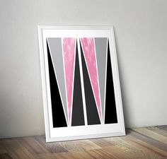 abstract poster print affiche scandinave by OrangeKiteLabs on Etsy