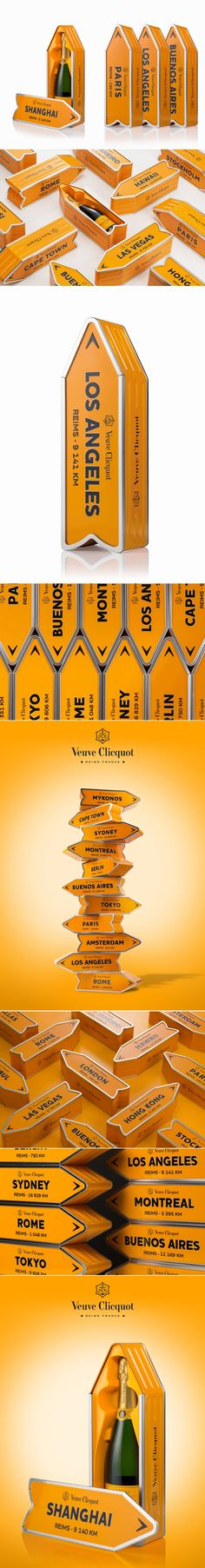 Check Out The Beautiful Packaging for Clicquot Arrow — The Dieline | Packaging & Branding Design & Innovation News