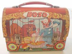 1950 lunch box | 1950'S 60'S BOZO LUNCH BOX: Vintage Lunchboxes, Clown Lunchbox, 60 S ...