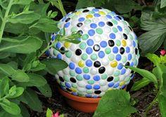 Garten Dekoration Kugel Blumentopf