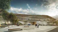 Jerusalem Museum of Nature & Science Second Prize Winning Proposal / MYS Architects,piazza / © Studio84