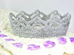 Crochet Crown for Girl Baby to Adult Custom Made by TheLilliePad, $12.00